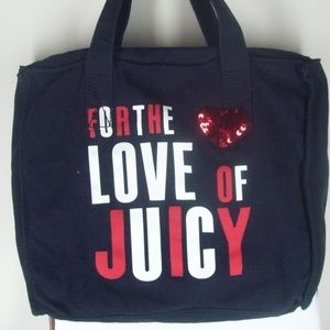NWT Juicy Couture Black Love of Juicy Sequin Tote